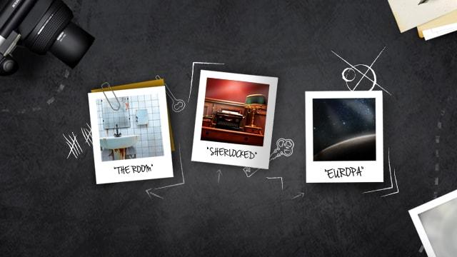 Photos des trois salles de l'escape game d'Antibes.