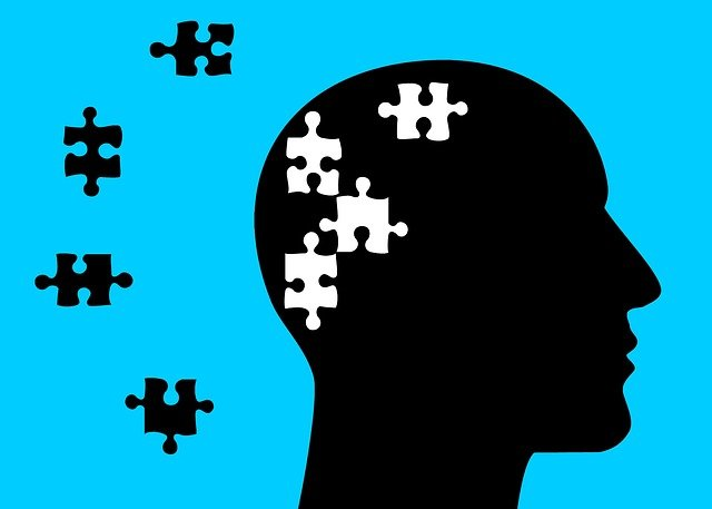 Illustration de la réflexion en puzzle dans l'esprit.